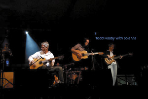Entertainment in Bend, Oregon: Todd Haaby playing with Sola Via at a concert