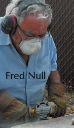 Fred Null working on art in Bend