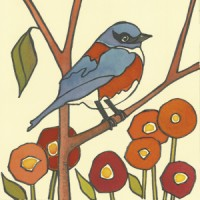 BluebirdwithPoppies
