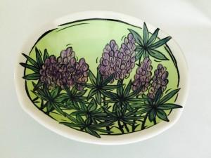 Janet Matson - lupine bowl