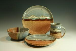 Michael & Michele Gwinup Dinnerware Mountain Desert