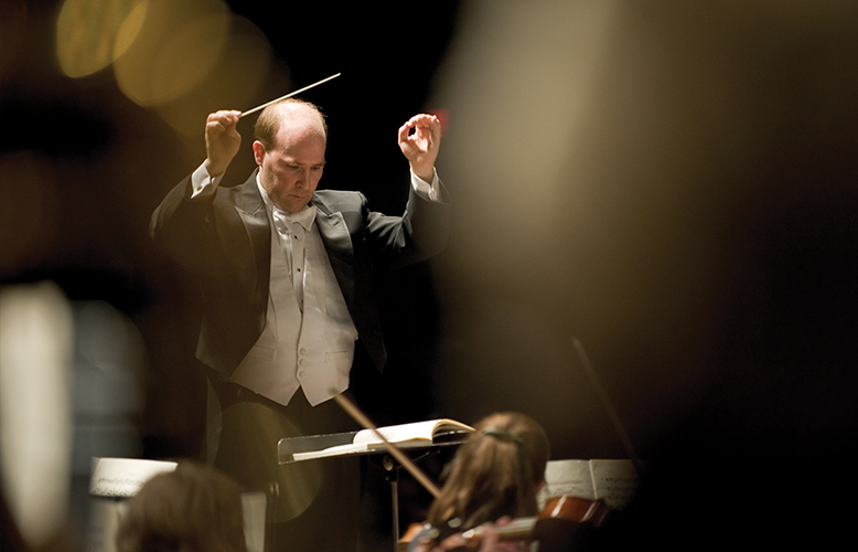 COS Conductor Michael Gesme, photo courtesy of Benjamin Edwards
