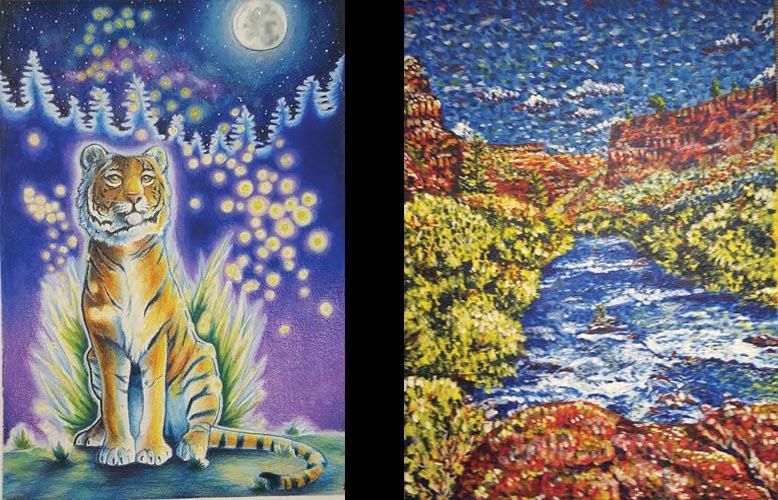 Artwork By  Sienna Bales, Bend High School Alexandra Heisler, Summit High Schoo