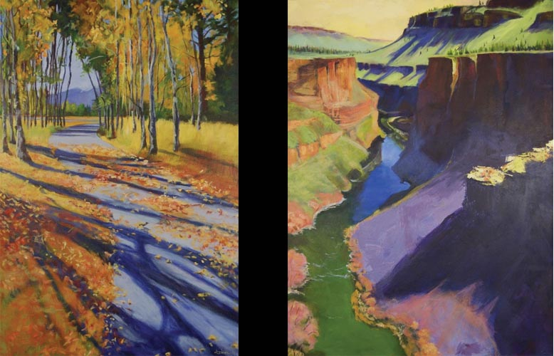 Aspen Shadows & Canyon View by Lisa Wiser