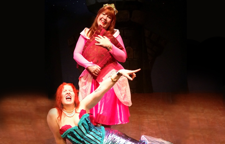 Stephanie Slade as Ariel  Karen Sipes as Sleeping Beauty.  Photo courtesy of 2nd Street Theater
