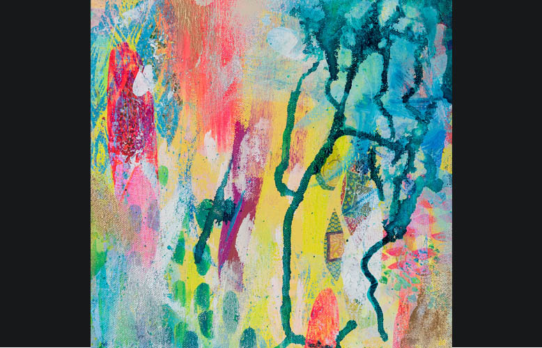 Mixed Media Abstract  by MaryLea Harris