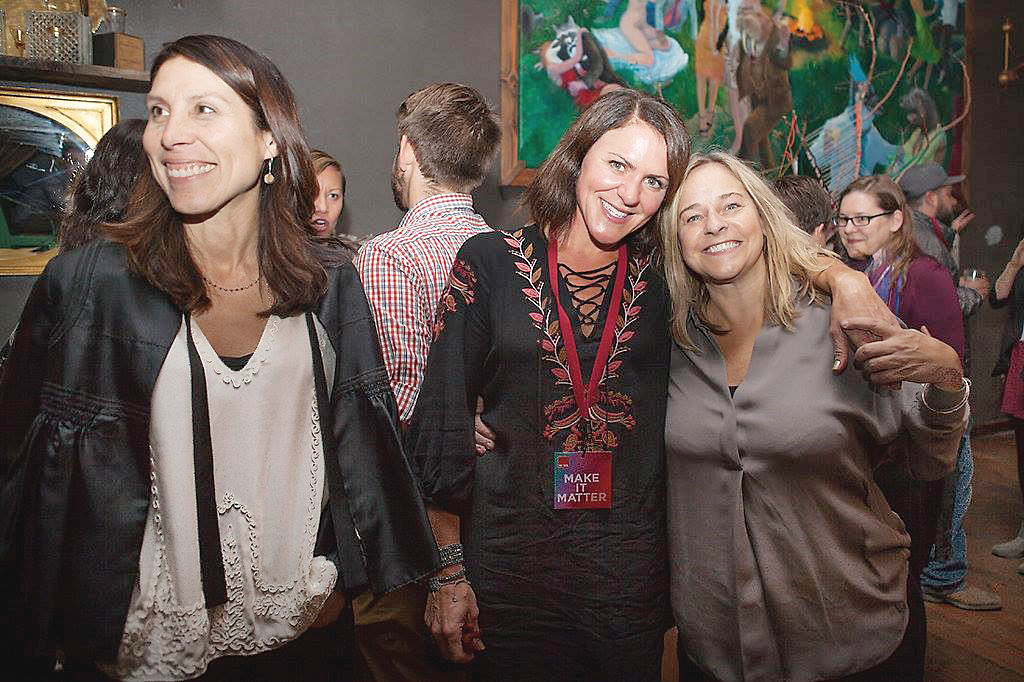 L-R Cassondra Schindler, Holly Higdon-Wood and René Mitchell at Bend Design_Photo courtesy of René Mitchell