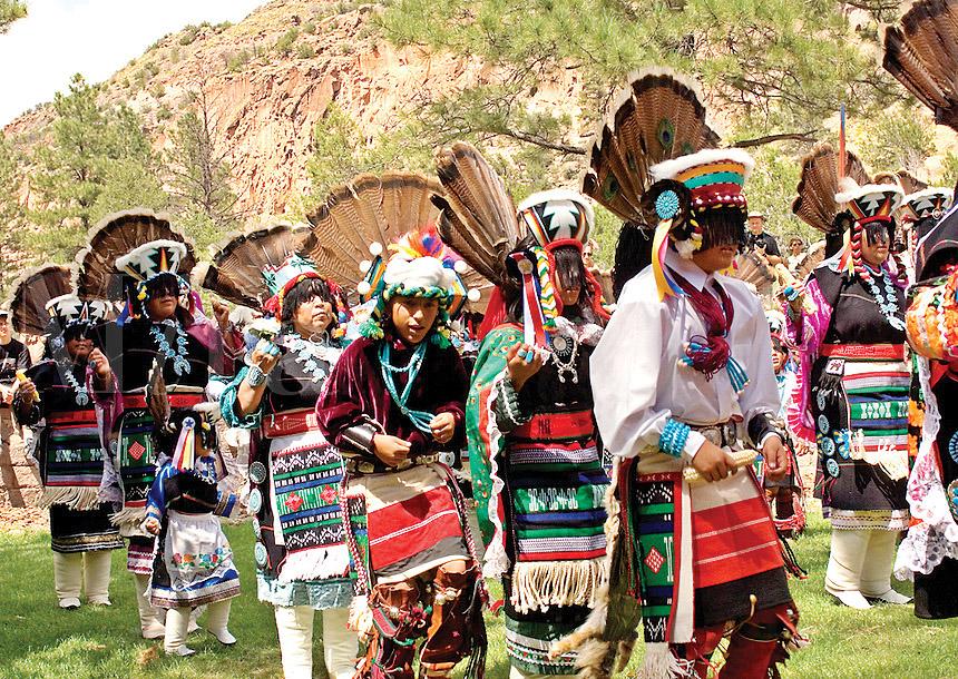 Zuni Pueblo dancers preforming traditional dances at B<script type=