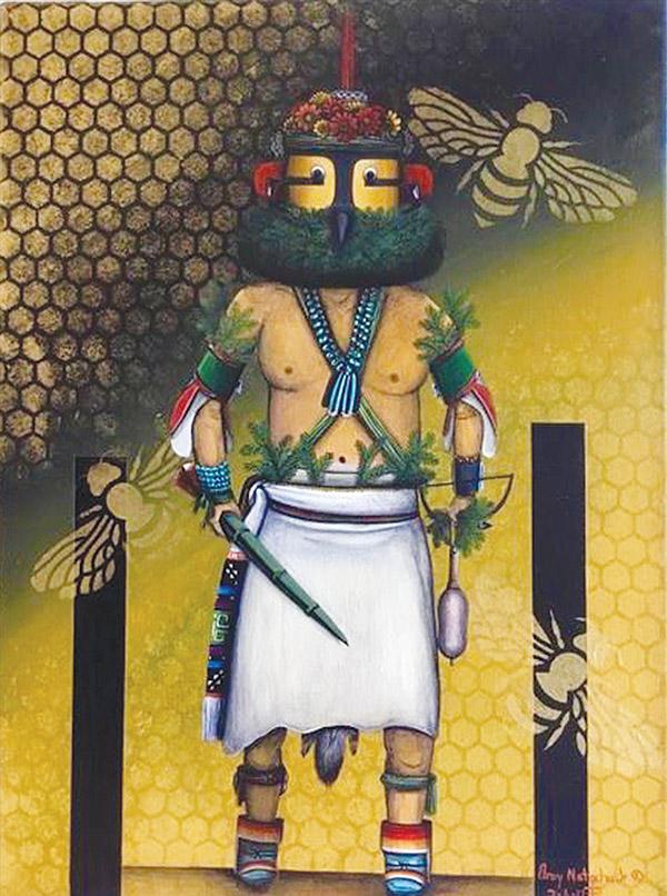 Bee Hive, Elroy Natachu Jr Inlay Jasper Bear by Jayne Quam
