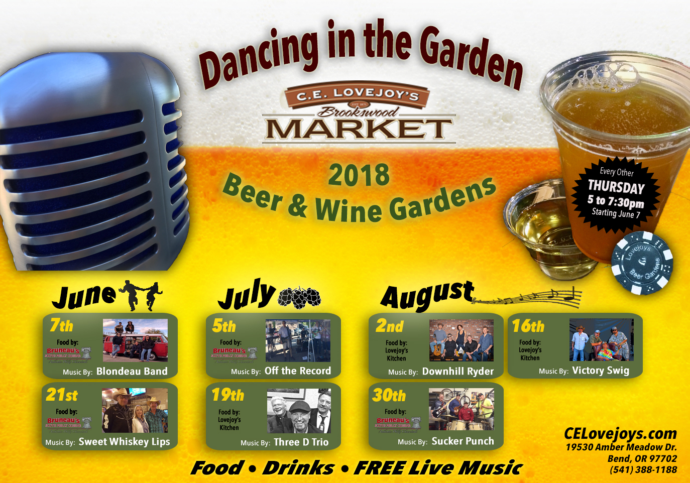 """""""Dancing in the Garden"""" Beer & Wine Garden w/Live Music at C.E. Lovejoy's Market @ C.E. Lovejoy's Brookswood Market 