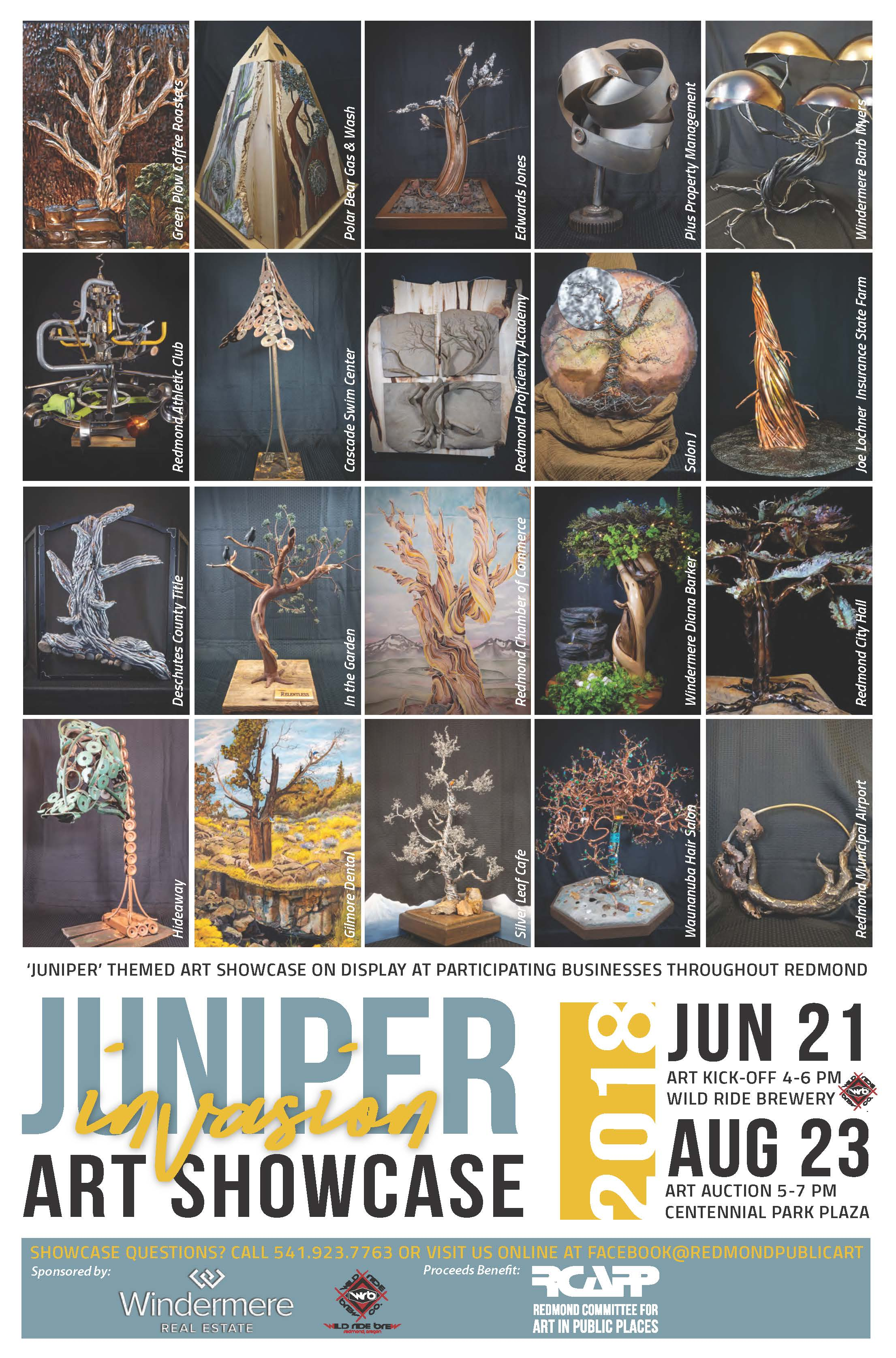 Juniper Invasion Auction @ Centennial Park Plaza/7th Street Plaza | Redmond | Oregon | United States
