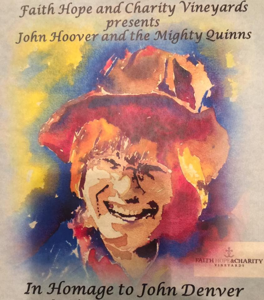 Live in the Vineyard: John Hoover and The Mighty Quinns @ Faith, Hope and Charity Winery | Terrebonne | Oregon | United States