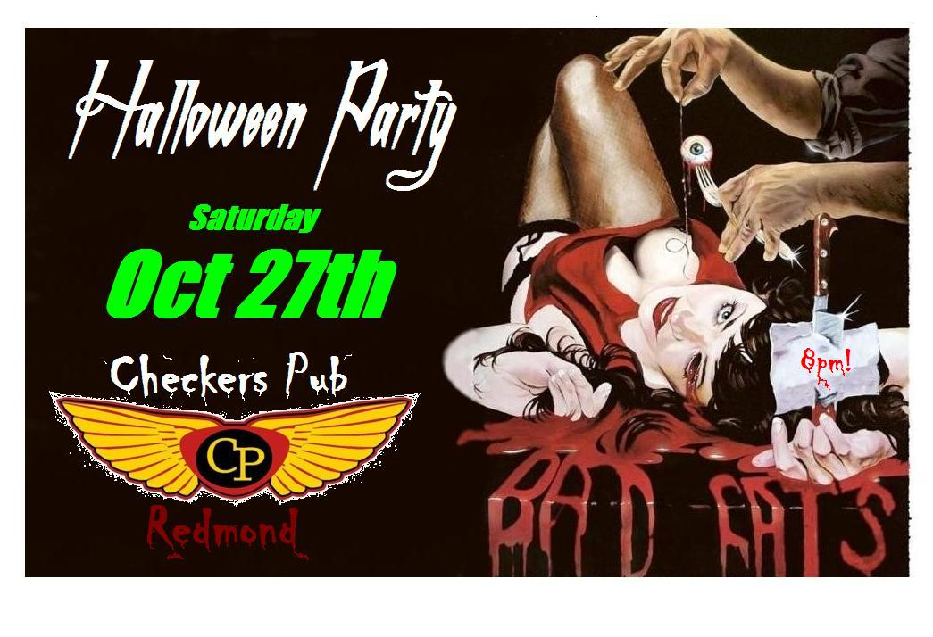 Checkers Halloween Party - The Bad Cats @ Checkers Pub | Redmond | Oregon | United States