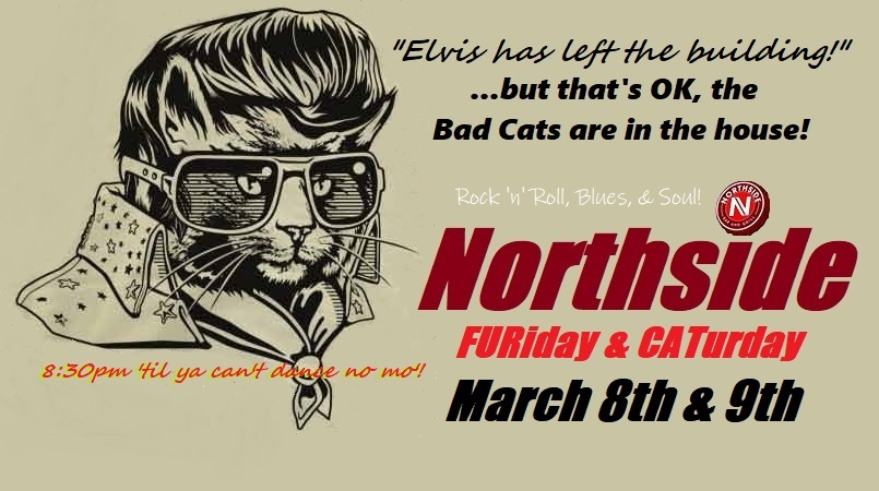 CATurday night LIVE music - The Bad Cats at Northside! @ Northside Bar & Grill