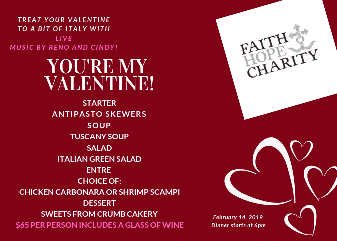 Italian Valentine's Day Dinner @ Faith Hope and Charity Vineyards