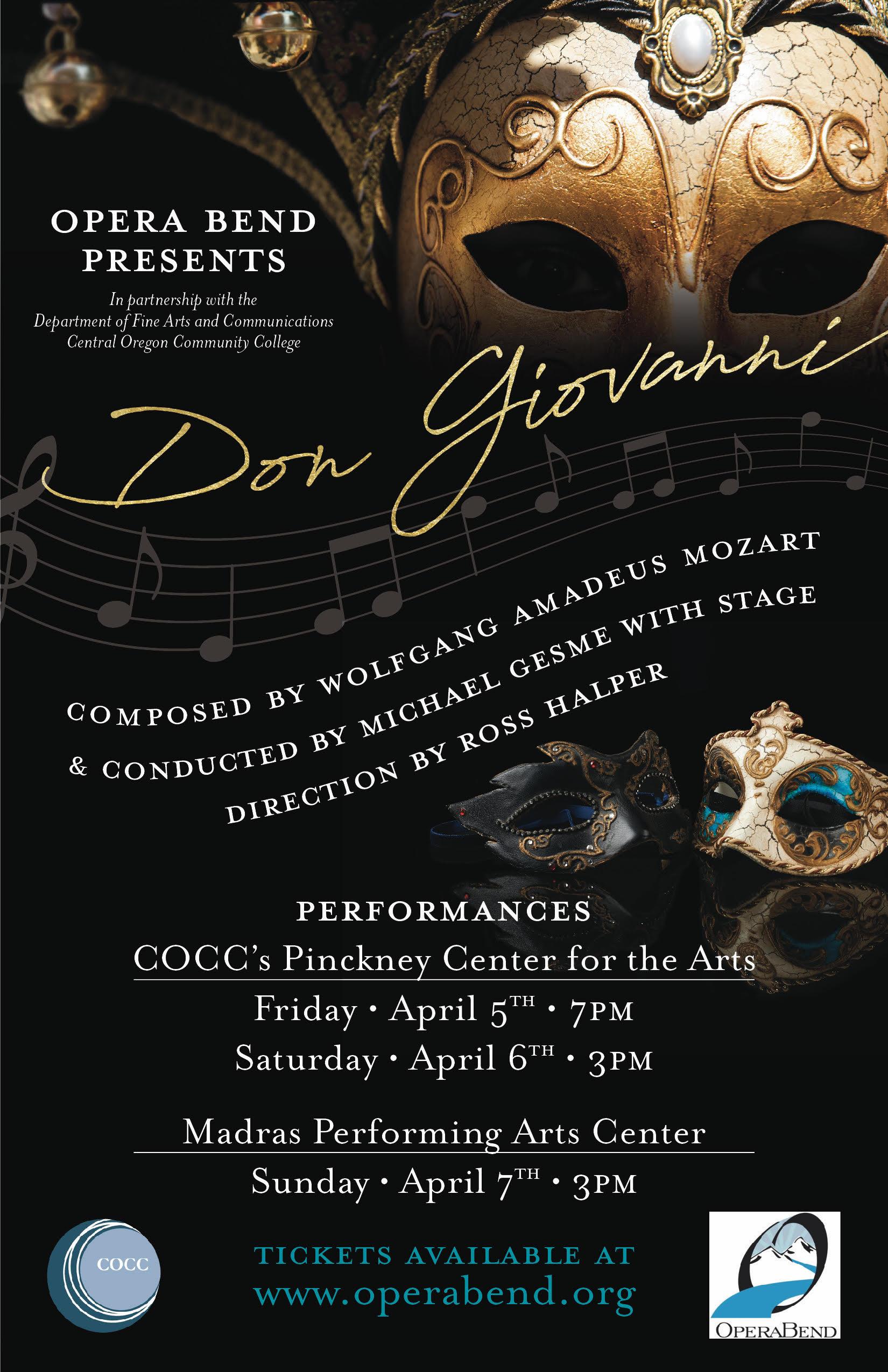 Don Giovanni! @ Pinckney Center for the  Arts