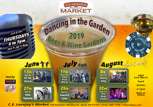 'Dancing in the Garden' Beer & Wine Garden with Free Live Music @ C.E. Lovejoy's Brookswood Market
