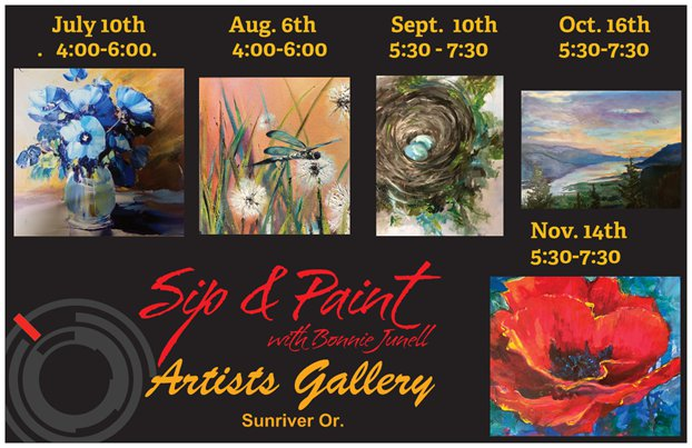 Sip & Paint at Artists Gallery Sunriver @ Sip & Paint with Bonnie Junell