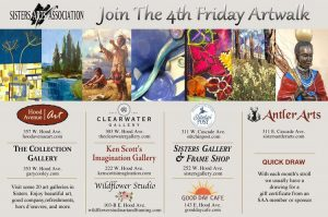 4TH FRIDAY ART WALK IN SISTERS, OR, 4-7PM @ Downtown Sisters
