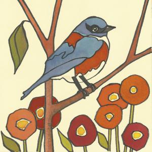 BluebirdwithPoppies