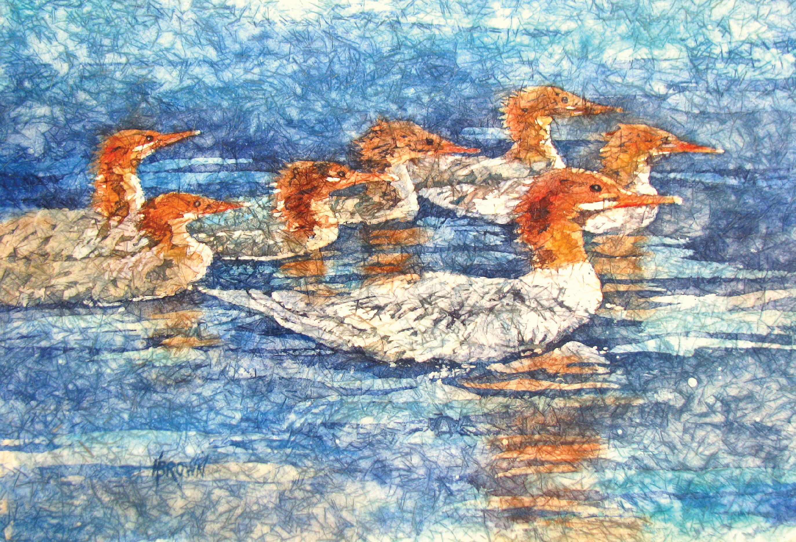 Mergansers by Helen Brown